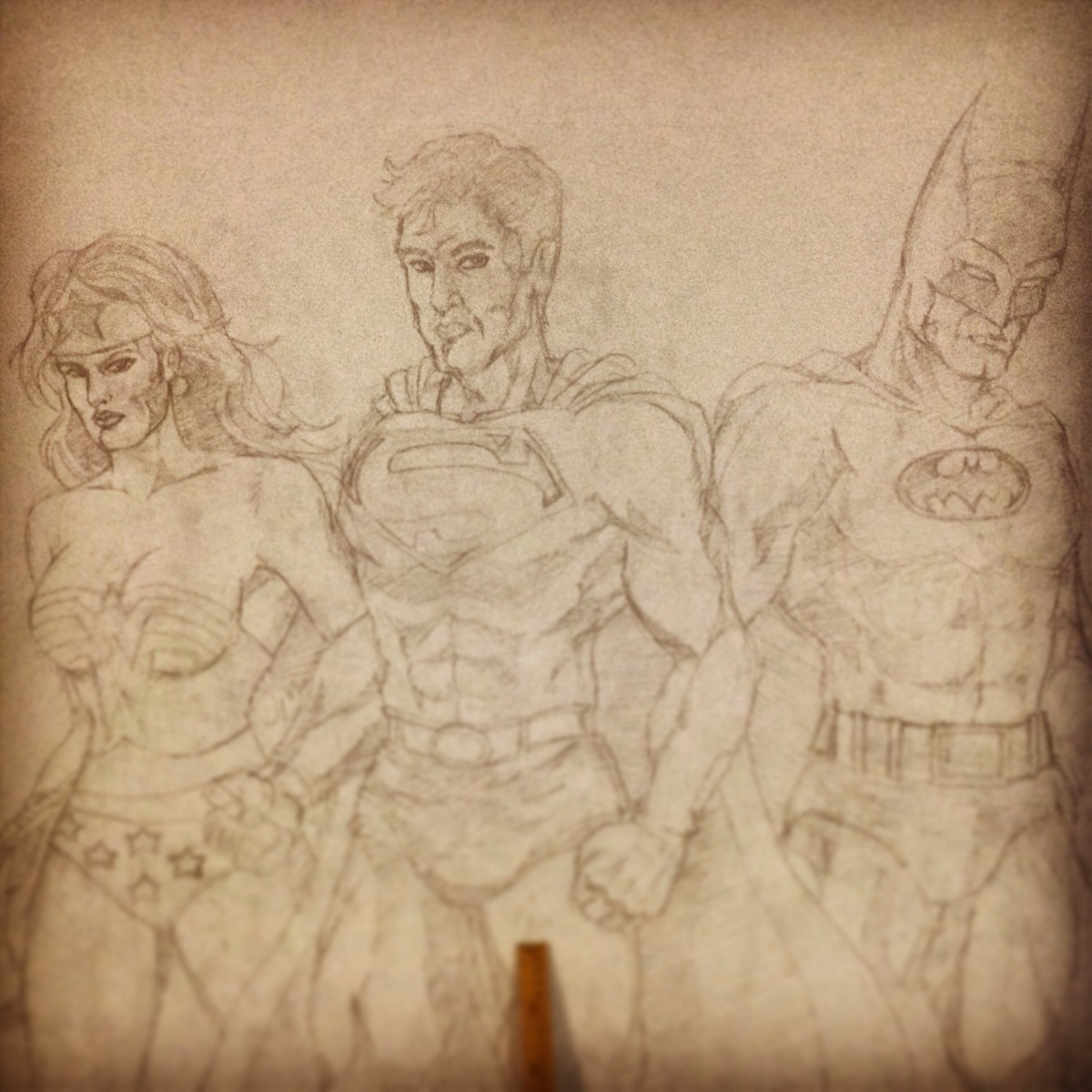 WIP: Justice League Wall Mural